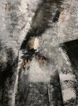 black and white - 2, 60 x 80 cm, Acrylfarben auf Keilrahmen, signiert und datiert 2018