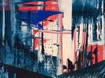 abstrakt - 10, 60 x 80 cm, Acrylfarben auf Malkarton, signiert und datiert 2018