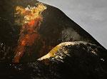 Vulkan - 60 x 80 cm, Acrylfarben auf Keilrahmen, signiert und datiert 2019
