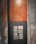 """""""Hokjesgeest 2"""" 100 × 120 cm (verkocht)"""