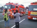 消防車両の展示