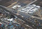 雀宮駅周辺の航空写真(平成23年2月20日撮影)