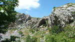 Blick vom Krater aus zur Sterbestelle Intschu Tschuna