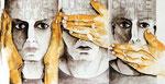 Comme sourd, comme aveugle, comme muet, aquarelle, 2001, collection privée