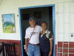 Luis Fernando Mejia mit Frau