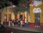 """Der Eingangsbereich vom """"La Puerta"""" in der Calle 17, Carr. 1B, in Santa Marta"""
