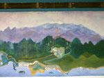 """Wandgemälde in der Posada """"El Mirador Ecoturistico"""""""