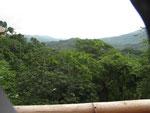 Ein Blick von der Terrasse auf Santa Marta