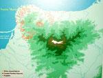 Karte der archäologischen Fundorte in und um die Sierra Navada