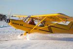Der Flieger macht auch im Schnee Spaß!