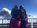 Bruno, Karin, Fränzi und Peter auf dem kleinen Matterhorn
