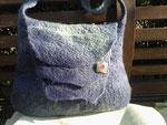 Tasche, Falkland, handgefärbt