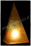 Pyramidenlampe mit Blütenmuster