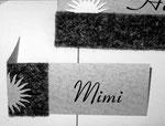 Jubiliäum, Tischkarten, Filz mit Papier, Detail