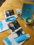 Firmung, Gesamtpaket: Einladungs-, Dankeskarten und Deko