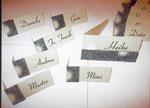 Jubiliäum, Tischkarten, Filz mit Papier