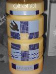Taufkerze, mit Einkerbungen, Mosaik I