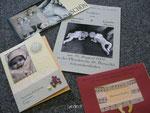 Karten zur Geburt und Liederzettel für Tauffeier