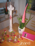 Kommunion, Gesamtpaket: Kerze, Deko und Karten
