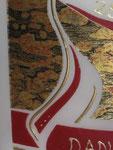 Hochzeitskerze, ovale Fischform, geschwungenes Herz, Detail