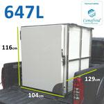 Caisson 647 litres réfrigéré pour pick up