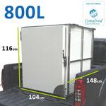 Caisson réfrigéré pour pick up 800 litres