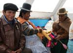 Liebe Familie bei der Schifffahrt zur Isla de Sol