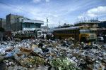 Müllsammelplatz mitten in der Stadt von Quetzaltenango