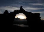 auf der Insel waren wunderschoene Ruinen die wir im Sonnenuntergang bewundern konnten...