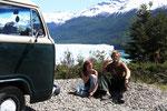 Sven und ich beim Zaehneputzen mit schoener Kulisse :)