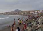der Strand nicht traumhaft aber gemütlich