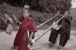 Buddhistische Mönche in Sikkim