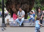 Auf den Plaza von Salta