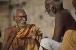Varanasi Diskussion an den Ghats