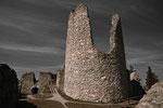 Ein alter Turm in der Ruine Hohenfreyenberg