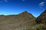 Der Gipfel des Cerro Chirripo ist nahe. Mann kann schon den Aufstiegsweg sehen.