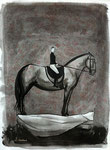 """Traum"" 2007. Tusche auf  Büttenpapier. B 57 x H 78 cm."