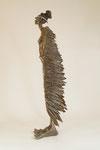 """Vogelfrau"" Edition 5+1EA Neusilber 100x70x35cm"