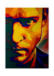 Justin Timberlake, 50 x 70 cm,  Acryl auf Leinwand