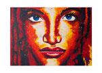 Portrait einer Frau, 70 x 50 cm, Acryl auf Leinwand