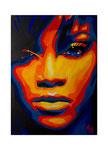 Rihanna, 50 x 70 cm, Acryl auf Leinwand