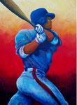 Baseball (Acryl auf Leinwand, 60 x 80 cm)