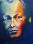 Das Gesicht im Schatten, 60 x 80 cm, Acryl auf Leinwand