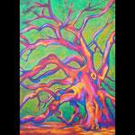 Baum, 60 x 80 cm, Acryl auf Leinwand
