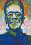 Das Monster von Frankenstein, 30 x 42 cm,  Acryl auf Papier