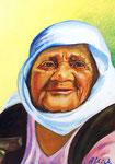 Alte türkische Frau, 30 x 42 cm, Acryl auf Papier