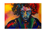 Jimi Hendriy, 70 x 50 cm, Acryl auf Leinwand