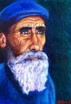 Alte türkischer Mann, 30 x 42 cm, Acryl auf Papier
