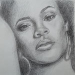Rihanna, Bleistift auf Papier