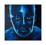 Blaues Portrait, 60 x 60 cm, Acryl auf Leinwand